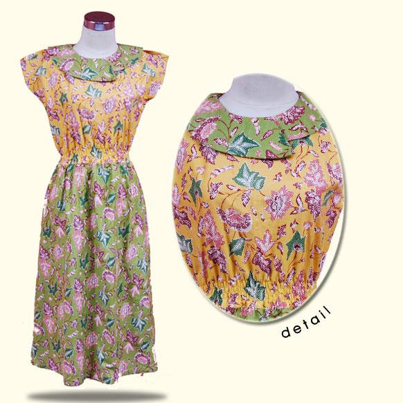 Dress Batik untuk pesta   Baju batik Nusantara – Baju batik kerja ...
